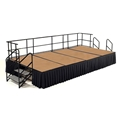 "National Public Seating 8'x16' Portable Stage Kit - 24"" High, Hardboard"