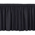 "National Public Seating SS24 Shirred Stage Skirt for 24"" High Stage"