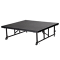 "National Public Seating TFXS48481624C TransFix 4'x4' Stage Panel, 16""-24"" Height Adjustable, Carpet"