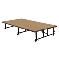 "National Public Seating TransFix 4'x8' Stage Panel, 16""-24"" High, Hardboard"