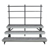 National Public Seating TransPort 3-Level Straight Choral Riser and Guard Rail Bundle
