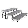 National Public Seating TP72 TransPort 3-Level Straight Choral Riser