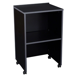 Oklahoma Sound 112 AV Cart/Lectern Base, Black a/v cart, lecterns, podium, dais, school furniture, college furniture, university furniture, church