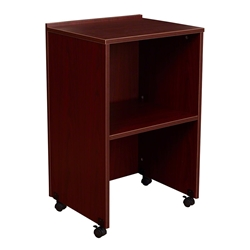 Oklahoma Sound 112 AV Cart/Lectern Base, Mahogany teaching lecterns, training lecterns, lecterns, non sound lecterns, school furniture, college furniture, university furniture, church