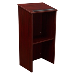 Oklahoma Sound 222 Full Floor Lectern, Mahogany 222MY, full floor lectern