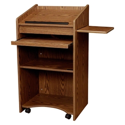 Oklahoma Sound 600-MO Aristocrat Non-Sound Lectern, Medium Oak podium, dais