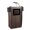 Oklahoma Sound 612S-RW Vision Lectern with Sound and Screen, Ribbonwood