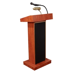 Oklahoma Sound 800X-CH Orator Sound Lectern, Cherry lectern, wired podium, wired lectern, podium with microphone, rechargeable battery, teaching lectern, speech lectern
