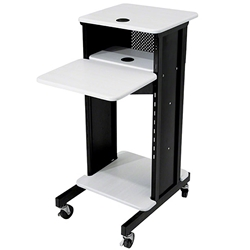 Oklahoma Sound PRC200 Premium AV Presentation Cart av cart, a/v cart, audio visual cart, laptop, document reader, projector cart