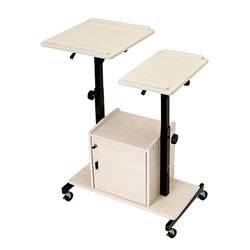 Oklahoma Sound PRC300 Deluxe AV Presentation Cart av cart, a/v cart, audio visual cart, laptop, projector, locking