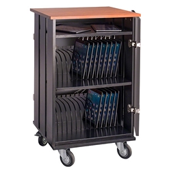 Oklahoma Sound TCSC-32 Tablet Charging/Storage Cart av cart, a/v cart, audio visual cart, tablet cart, tablet charging station, storage cart