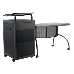 Oklahoma Sound TWP Teachers WorkPod Desk and Lectern Kit av cart, a/v cart, audio visual cart, workpod, workpod lectern, workpod desk, teachers desk
