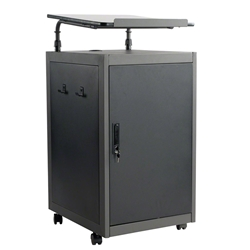 Oklahoma Sound TWPL Teachers WorkPod Lectern av cart, a/v cart, audio visual cart, workpod, workpod lectern