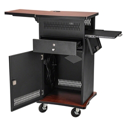 Oklahoma Sound WZD The Wizard AV Presentation Cart w/HDMI Port av cart, a/v cart, audio visual cart, vga, hdmi, laptop, document reader