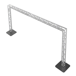 ProFlex 20x10 Goalie Post F33 Triangle Truss Package portable stage trussing, goalie post truss, up and over truss, walkway truss, goalie truss, portable truss, 20x10 truss