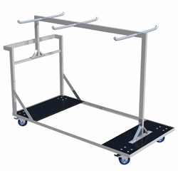 ProFlex Stage Guard Rail Trolley (fits 28 8-foot Guard Rails) storage, transportation, dolly, guardrails, truck, rolling cart