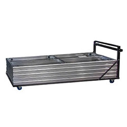ProFlex Stage Platform Trolley (fits 10 8x4 stage panels) portable stage panel truck, platform dolly, transportation, road cart, storage cart, stage truck