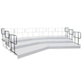 Staging 101 Side Guard Rail Package for 3-Tier Seated Risers (6-pack)