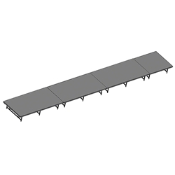"Staging 101 4x28 Portable Stage 16""-24"" High 4x28, 28x4, 4 x 28, 112 sqft, 112 square foot stage, dual height, adjustable height"