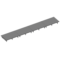 "Staging 101 4x32 Stage System, 16""-24"" High 8x16, 16x8, 8 x 16, 128 sqft, 128 square foot stage, staging platform, stage deck, dual height, adjustable height, 4x32, 32x4, 4 x 32, 32 x 4"