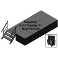 TotalPackage™ Dual-Height Portable Stage Kit, 8'x16'