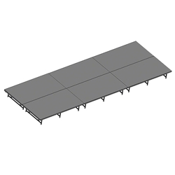 "Staging 101 8x24 Stage System, 16""-24"" High 12x16, 16x12, 24x8, 8x24, 12 x 16, 8 x 24, 192 sqft, 192 square foot stage, dual height, adjustable height"