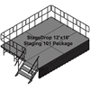 TotalPackage™ Dual-Height Portable Stage Kit, 12'x16'