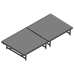 "Staging 101 4x8 Portable Stage 16""-24"" High 4x8, 8x4, 4 x 8 staging platform, stage deck, dual height, adjustable height"