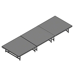 "Staging 101 4x12 Portable Stage 16""-24"" High 4x12, 12x4, 4 x 12 staging platform, stage deck, dual height, adjustable height"