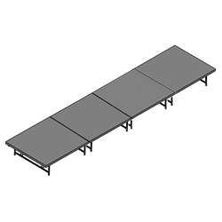"Staging 101 4x16 Portable Stage 16""-24"" High 4x16x16, 16x4x24, 4 x 16, 64 sqft, 64 square foot stage, dual height, adjustable height"