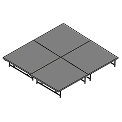 "Staging 101 8x8 Portable Stage 16""-24"" High (4x4 Units) 8x8x16, 8x8x24, 8 x 8, 64 sqft, 64 square foot stage, dual height, adjustable height"