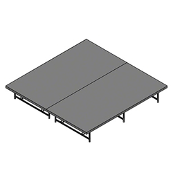 "Staging 101 8x8 Portable Stage 16""-24"" High 8x8x16, 8x8x24, 8 x 8, 64 sqft, 64 square foot stage, dual height, adjustable height"