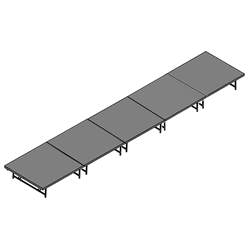 "Staging 101 4x20 Portable Stage 16""-24"" High 4x20, 20x4, 4 x 20 staging platform, stage deck, dual height, adjustable height"