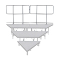 Staging 101 Back Guard Rails for 3-Tier Wedge Seated Risers (2-pack)