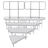 Staging 101 Back Guard Rails for 4-Tier Wedge Seated Risers (2-pack)