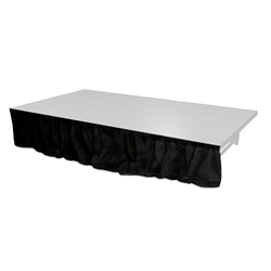 "QuickLock Staging 8x16"" Black Stage Skirt (8x16)  velcro, hook and loop, skirting, 8x16, 16x8, 16 skirt, drape"