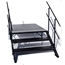 "Staging 101 4' Wide Stairs with Handrail for 16""H-32""H Stages - SSTAIR4X3C-SSTAIR4X3I"
