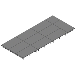 "Staging 101 12x28 Portable Stage 16""-24"" High 12x28, 28x12, 12 x 28, 336 sqft, 336 square foot, dual height, adjustable"