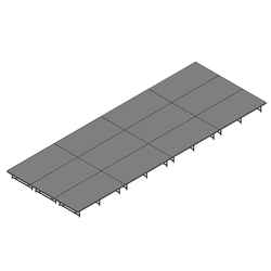 "Staging 101 12x32 Stage System, 16""-24"" High 12x32, 32x12, 32 x 12 staging platform, stage deck, dual height, adjustable"