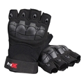 ProX X-GRIPZ Hard Knuckle Fingerless Gloves - For Truss and Stage Performance