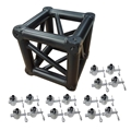 ProX F34 Square Truss 6-Way Matte Black Junction Block with 16 Half Conical Couplers