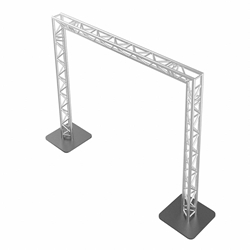 ProFlex 10x10 Goalie Post F33 Triangle Truss Package portable stage trussing, goalie post truss, up and over truss, walkway truss, goalie truss, portable truss, 10x10 truss