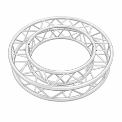 ProX F34 Square Frame Circle Truss Package (2 x 180° Segments) - 2 Meters SQ-C2-90, SQC290, global truss, euro truss, eurotruss, dura truss, duratruss